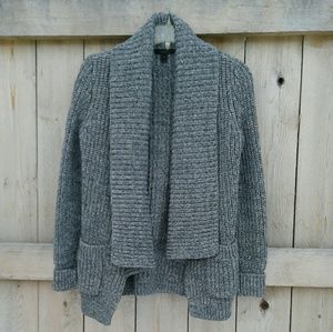 J. Crew open front marled cotton sweater sz s